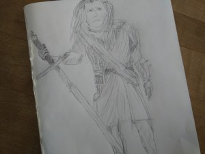 Yet another not quite contemporary drawing of William Wallace. Also, not historically correct.