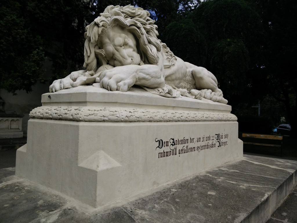 The stony lion in front of the museum
